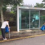 대륜동, 비가림 버스승차대 환경정비활동