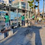 새마을지도자일도1동협의회, 버스승차대 환경정비