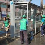 삼도2동새마을지도자협의회, 버스승차대 정비활동
