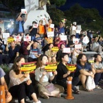 """제주서도 아베정권 규탄 거리집회...성난 시민들 """"사죄하라"""""""