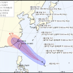 제11호 태풍 '바이루' 북상, 현재위치와 예상경로는?
