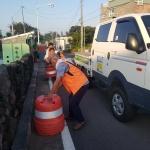봉개동, 도로 불법적치물 근절 캠페인