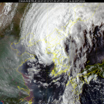 [내일 날씨] 태풍 물러나자 저기압 북상 '비'...최고 150mm