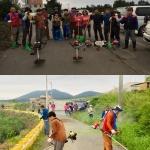 노형동청소년지도자협, 마을안길 풀베기 작업 실시