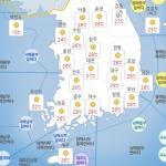 [내일 날씨] 대체로 맑음, '청명한 하늘'...큰 일교차 건강관리 주의