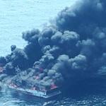 제주, 불길 휩싸인 어선 '전소'...승선원 11명 전원 구조