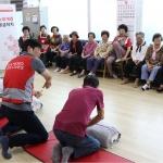 제주적십자사, 세계 응급처치의 날 맞아 경로당 심폐소생술 체험 캠페인