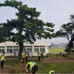 제주해안경비단 125의무경찰대, 태풍 피해 복구 지원