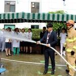 한국병원, 오라119센터와 화재 대비 소방훈련